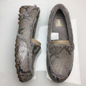 Ugg Hailey Metallic Snake Snake Silver Shoes New